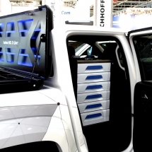 X-unit - box na korbu a regál do kabíny - Sortimo zariadenie pre truck