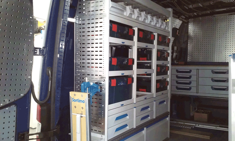 BOSCH L-BOXX regálové systémy SORTIMO 2